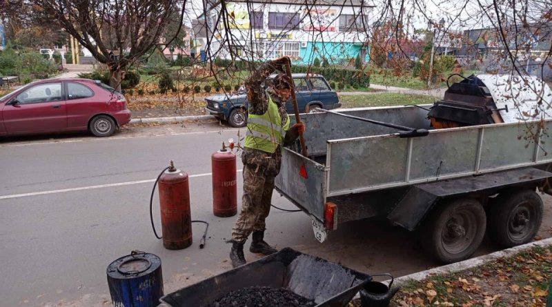 Поточний ремонт доріг міських вулиць