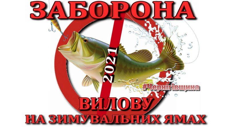 З 1 листопада 2021 року на Чернігівщині діє заборона на лов водних біоресурсів на зимувальних ямах